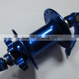 Blue Oxidized bicycle front & rear hubs