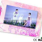 Paper card 4.3/5/7 inch size touch screen video invitation card wedding tft digital video card