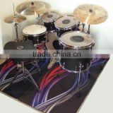 2016 new products custom logo nature rubber non slip drum mats, Drum Rugs, Drum Pads, Drum Kit Mats