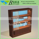 Mall beauty salon kiosk/ glass display cabinet