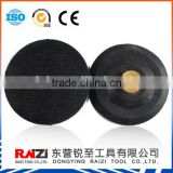 "3"" 4"" 5"" M14, 5/8-11 Thread Hook And Loop Fastener Backed Thin Flexible Rubber Backer Pad"