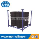 Warehouse used metal stacking mobile the tire rack