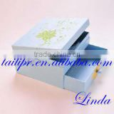 Wholesale lowest price jewelry gift packaging box/blue cardboard jewelry packaging box/gift boxes for jewelry