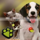 New LED Pet Safety Light tag Collar Charms Paw shaped Cat Dogs Night Walking Pendant Pets Blinker ID Tags