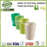 bamboo finber 300mL disposable 100% natural water cup,bamboo fiber drinking cup