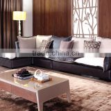 Modern Elegant Design L Shaped Sofa Set Dubai Leather Sofa Furniture Living Room Arab Style Sofa