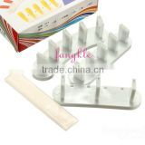 New Plastic Nail Art Tips Display Practice Frame Holder Tool 3pcs Per Set