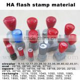 2015 Alibaba China Round shape HA flash stamp with flash foam wholesale/Popular office flash foam stamp
