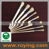 long wood handle natural bristle round paint brush