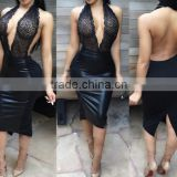 sexy mature ladies vestido sexy women romper short sexy wet look pvc dress                                                                         Quality Choice