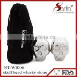 amazon new 2015 skull shape cube chritmas chilling whisky steel cubes