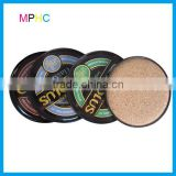 Custom Promotional Full Color Printed Metal Tin Coasters with cork back