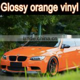top selling glossy orange vinyl for car , high quality with good flexible car color change film