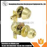 High security Brass Finish tubular door knobs and deadbolt set, door handle, door hardware, door assembly, door fitting