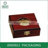 top grade lacquered wooden badge packaging box