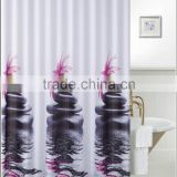2016 Fashion Design polyester shower curtain with metal eyelets