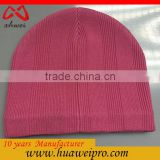 Alibaba China Oem Wholesale Fashion Custom Acrylic and Polyester Winter Knitted Beanie Hat