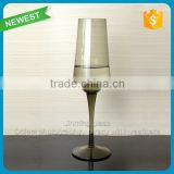 High quality brown champagne glass fancy flute champagne cup glass whlosesale customed color wine glass