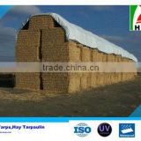 UV Stabilized 12Mil Square Hay Bale Tarpaulin With Rope/Metal Eyelets