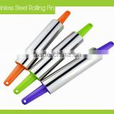 13.5 Inch Plastic Handle Stainless Steel Rolling Pin