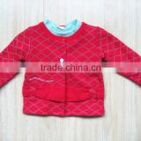 wholesale clothing red plain clothing baby girls spring coats
