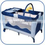 Newest hot high quality iron portable baby crib with toys bar