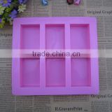6 cavities silicone soap mold make 100g soap 8.8*5.5*2.5cm                                                                         Quality Choice