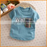2016 South Korean children's summer t-shirt t-shirt cotton small men and women wear short sleeved on behalf of a child