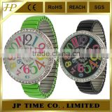 Limited Edition Ladies Turquoise Stretchy Metal watches fashion wholesale with Colorful Numbers