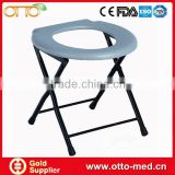 Disabled steel folding commode chair