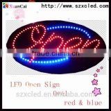 38*68.5(Oval) flashing acrylic pull switch indoor Nails Low Power Consumption Led Neon Open Sign for shop