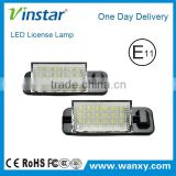 18SMD 3W LED E36 License Number Plate Light Led Tail License Lamp for BMW E36 1992-1998 with E-mark E4 CE ROHS