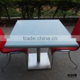 brilliant blue square table tops 600*600mm small size tables