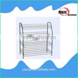 Shoes store stand floor rack chrome metal wire shelf