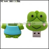 custom made high speed USB flash drive frog shaped 2GB,4GB,8GB