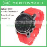 Japan movt silicone silicone watches in bulk
