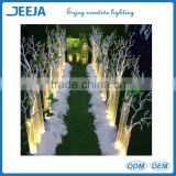 led uplighter plate/tray/base with remote for silk vision flowers wedding decoration