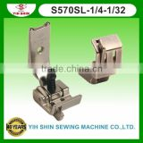Industrial Sewing Machine Parts Sewing Accessories Brassiere Feet W/Guide Double Needle S570SL-1/4-1/32 Presser Feet