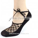Hot Sell Women Cotton Lace Antiskid Invisible Liner No Show Peds Low Cut Socks