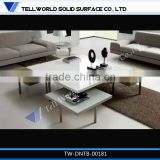 Hot Sale China manufacturer living room furniture acrylic solid surface center table design