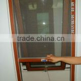 Italian Style Aluminum-Wood Composite Openning Outward Window With Fly Screen Double Glazed
