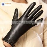 sheepnappa leather gloves for ladies with beautiful cuff