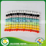 Custom cool men's charm silicone stretch bracelet beads