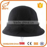 Custom wholesale fedora hats women black red wool bulk fedora hats