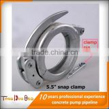 high pressure hose clamps used for concrete pump pipes coupling