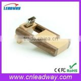 high quality rotation wooden usb