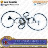 wrought iron brand BenXiang ornamental rosettes for house decoration