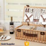 2016 new high quality cheap wicker woven empty picnic hamper basket                                                                         Quality Choice