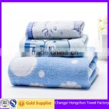 printed beach and bath towel set for child