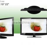 New design 19inch 22inch LCD TV 12 Volt DC ATV DTV USB Suport video VGA YPbPr Cheap Chinese tv sets flat tv